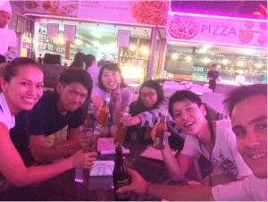 Having beer in Cebu