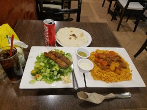 Arabian food kabsah and kebab...