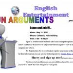 【第30回 English activity】Fun arguments