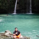 Amazing experience of our Arabian student in Kawasan falls and Moalboal