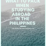 What to Pack when Studying Abroad in the Philippines